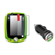 Insten Anti-Glare Screen Protector For Leapfrog LeapPad 1/2/3 Explorer (with 2-Port USB Car Charger Adapter)