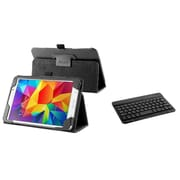 Insten Keyboard Slim Leather Case For Samsung Galaxy Tab 4 7 inch Black