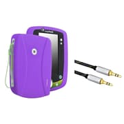 Insten Silicone Skin Case For Leapfrog LeapPad 2, Purple (+3.5mm Aux Auxiliary Audio Stereo Extension M/M Cable)