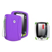 Insten Purple Silicone Skin Case+2 Packs Clear Screen Protector For LPF Leappad 2 Explorer
