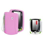 Insten Pink Rubber Skin Case Cover+2 Packs Clear Screen Protector For LPF Leappad 2 Explorer