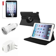 Insten Black Leather Case Guard AC Car Charger Protector Travel Charger For iPad Mini 2 3 (Auto Sleep/Wake)