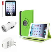 Insten Green Leather Case Guard AC Car Charger Protector Travel Charger For iPad Mini 2 3 (Auto Sleep/Wake)