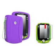 Insten Purple Silicone Case with FREE Anti-Glare LCD Cover For LeapFrog Leappad 1 2 3