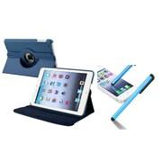 Insten Navy Blue Leather Case+Stylus For Apple iPad Mini 3/2/1 (Supports Auto Sleep/Wake)