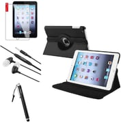 Insten 4in1 Black Leather Case Clip 3.5mm Stylus Headset For iPad Mini 2 3 (Auto Sleep/Wake)