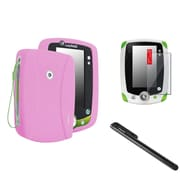Insten Pink Silicone Gel Skin Cover Case+Black Pen+Clear SPT For LPF Leappad 2 Explorer