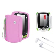 Insten Pink Skin Case+Clear Screen Protector+White Headset For LPF Leappad 2 Explorer