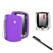 Insten Purple Silicone Skin Cover Case+Black Pen+Clear SPT For LPF Leappad 2 Explorer