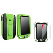 Insten Green/Black Leather Flip Folio Cover Case+Clear Protector For LeapFrog LeapPad Ultra