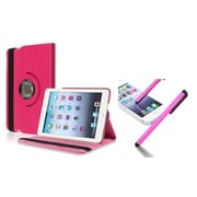 Insten Hot Pink Leather Case with Stylus For Apple iPad Mini 1st 2nd 3rd Gen (Auto Sleep/Wake)