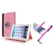 Insten Light Pink Leather Case with Stylus For Apple iPad Mini 1st 2nd 3rd Gen (Auto Sleep/Wake)
