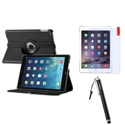 Insten 360 Black Rotating Leather Case Cover+LCD Protector+Pen For Apple iPad Air 5 5th Gen