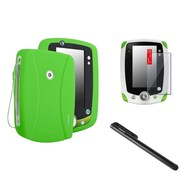 Insten Green Silicone Skin Cover Case+Stylus+Clear SPT For LPF Leappad 2 Explorer