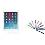 Insten 3 Packs Anti-Glare LCD Screen Guard for iPad Air 2nd 1st Gen (with 10-Piece Stylus)