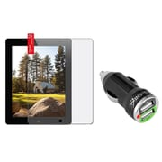 Insten Reusable Anti-Glare Screen Protector For Apple iPad 2 / 3 / 4 (with 2-Port USB Car Charger Adapter)