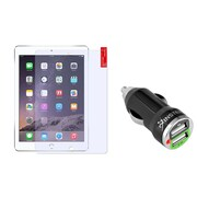 Insten Anti-Glare Guard for Apple iPad Air 2nd 1st Gen (w/ 2-Port USB Car Charger Adapter)