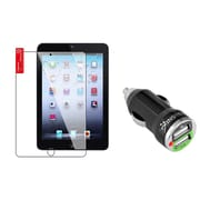Insten Clear Protector For Apple iPad Mini 3 3rd / 1 1st / 2 2nd with Retina Display (w/ 2-Port USB Car Charger Adapter)