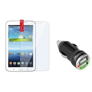 Insten Reusable Screen Protector For Samsung Galaxy Tab 3 7.0 P3200 (with 2-Port USB Car Charger Adapter)