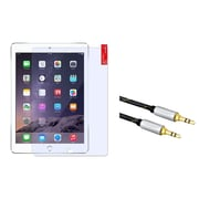 Insten Clear Screen Protector For Apple iPad Air 2 (2014) / Air (2013) (with 3.5mm Audio Extension Cable M/M)