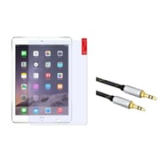 Insten Anti-Glare Screen Protector Guard for Apple iPad Air 2nd 1st Gen (2014 & 2013) (with 3.5mm Audio Extension Cable)