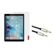 Insten Clear Screen Protector for Apple iPad Pro (+3.5mm Aux Auxiliary Audio Stereo Extension M/M Cable)