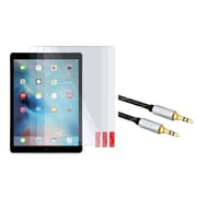 Insten 3 Packs Clear Screen Protector Guard For Apple iPad Pro (+3.5mm Aux Auxiliary Audio Stereo Extension M/M Cable)