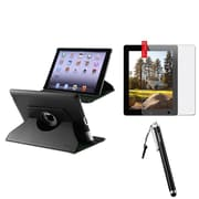 Insten 360 Rotating PU Leather Case For The iPad 4 4G Gen 3 3rd 2 Black