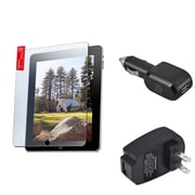 Insten LCD Screen Protector+Car+Wall AC USB Charger For iPad 1st Gen