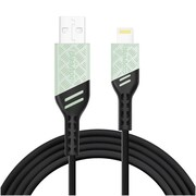 BasAcc Viper Series Apple MFi Certified Lightning USB Data Sync Charge Heavy Duty Cable - Steel Gray (3FT)