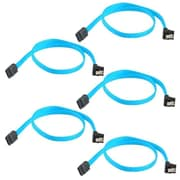 Insten 5 Packs SATA 3.0 Cable SATA3 III 6GB/s Right Angle 90-Degree for HDD Hard Drive