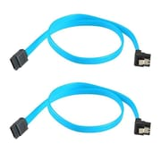 Insten 2 Packs SATA 3.0 III SATA3 SATAiii High Speed 6GB/s Data Cable Angle Blue