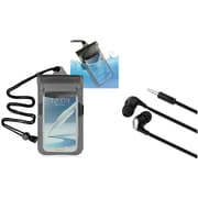 """Insten Clear Black Waterproof Bag Case+Hands-free Headset For Apple iPod Touch iPhone 6 4.7"""" 6+Plus 5.5"""" 5C 5S 4 4S"""