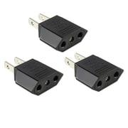 Insten 3 Packs Euro EU to US USA Travel Power Adapter Converter Wall Plug
