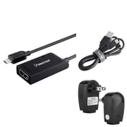 Insten Micro USB to HDMI MHL Adapter + AC Charger + 3.3FT Cable For Samsung Galaxy S III / S IV i9500 / SV S5 / Note III