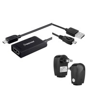 Insten Micro USB to HDMI MHL Adapter + AC Charger + 6FT Cable For Samsung Galaxy S III / S IV i9500 / SV S5 / Note III