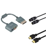 Insten 3FT HDMI 1080P 1.3+DIGITAL OPTICAL TOSLINK CABLE+RCA AUDIO ADAPTER For XBOX 360