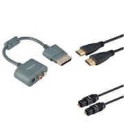 Insten RCA Audio Cable Adapter+6 FT Optical Toslink Cable+3FT HDMI Cable For Xbox 360