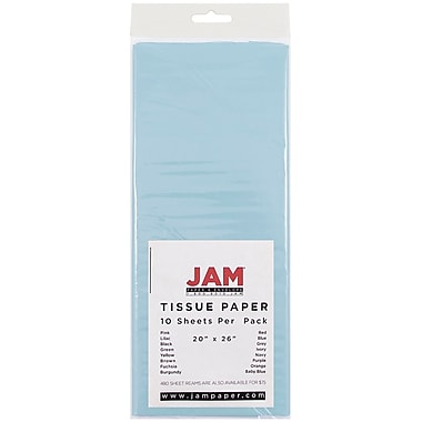 JAM Paper® Tissue Paper, Baby Blue, 10/Pack (1152347)