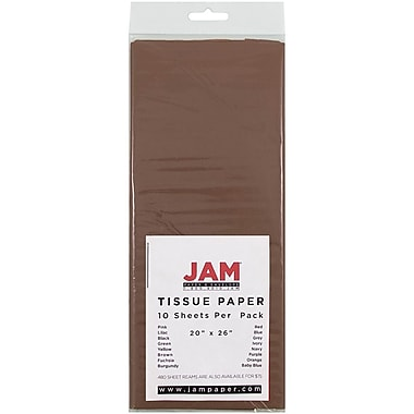 JAM Paper® Tissue Paper, Brown, 10/Pack (1152349)