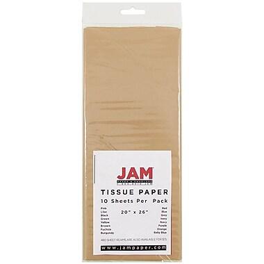 JAM Paper® Tissue Paper, Tan Brown, 10/Pack (1152350)