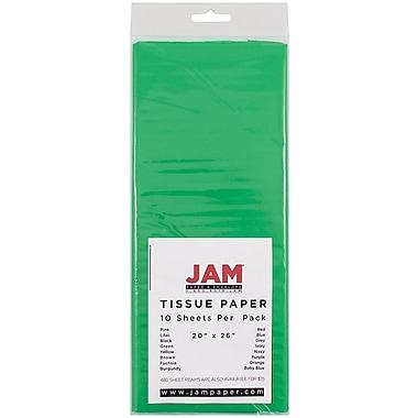 JAM Paper® Tissue Paper, Green, 10/Pack (1152352)