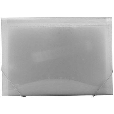 JAM Paper® 13 Pocket Expanding File, Letter Size, 9 x 13, Clear, Sold Individually (2163590)