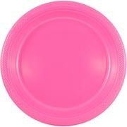 JAM Paper® Round Plastic Plates, Medium, 9 Inch, Fuchsia Pink, 20/pack (9255320681)