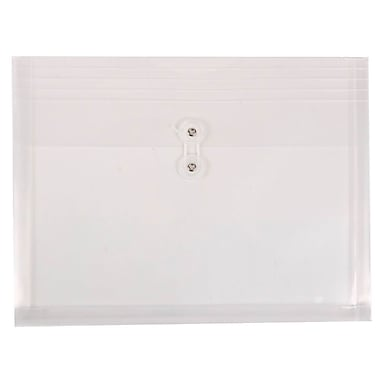 jam paper plastic envelopes with button and string tie closure letter booklet 975