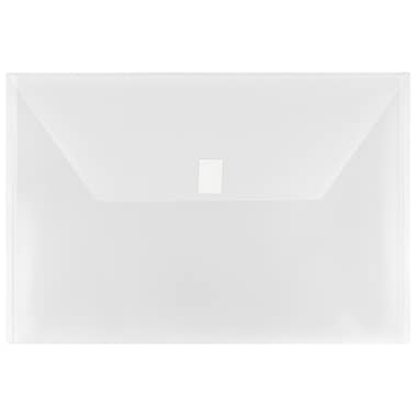 JAM Paper® Plastic Envelopes with VELCRO® Brand Closure, Legal Booklet, 9.75 x 14.5, Clear Poly, 12/pack (219V0CL)
