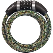 WORDLOCK CL-653-CM 10mm Combination Resettable Camo Green Lock, 5ft