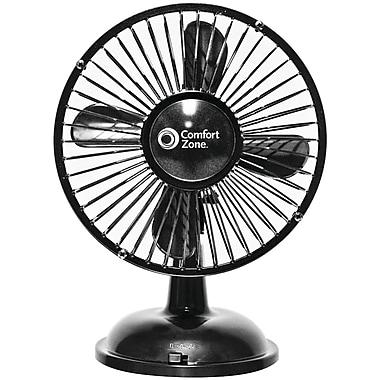 Comfort Zone Cz5usbbk Battery Usb Oscillating Desk Fan