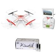 World Tech Elite 34923 2.4 GHz Sentinel Spy Drone W/ Camera & Kinetic 50 Pk AA