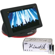 Jensen SMPS-182 Portable Stereo Speaker & KINETIK 53312 AA Batteries 50 pk